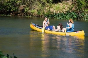 Our beautiful river is a campus highlight for recreation.